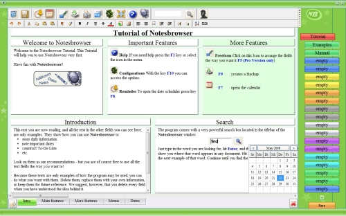 Screenshot der Notesbrowser Professional 1.9